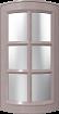 фасад дуговой с переплетом